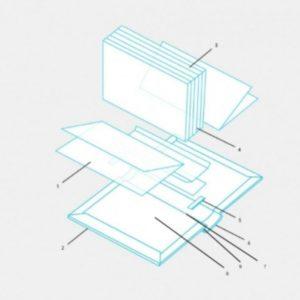 Carton Cotor pentru Carti cu Hardcover
